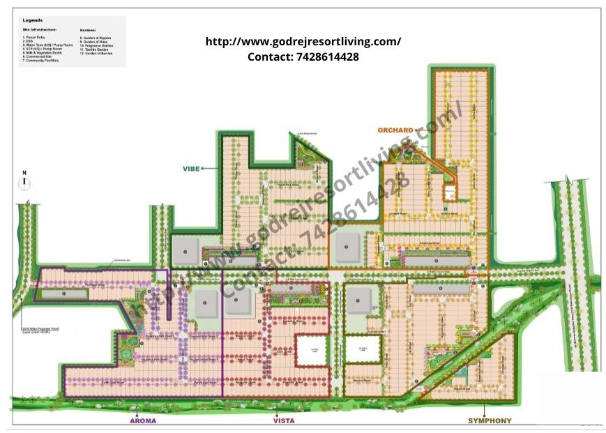 Map Godrej Sector 83 Faridabad ORCHAD VIBE AROMA VISTA SYMPHONY